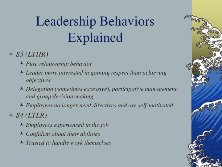 Leadership Behaviors Explained