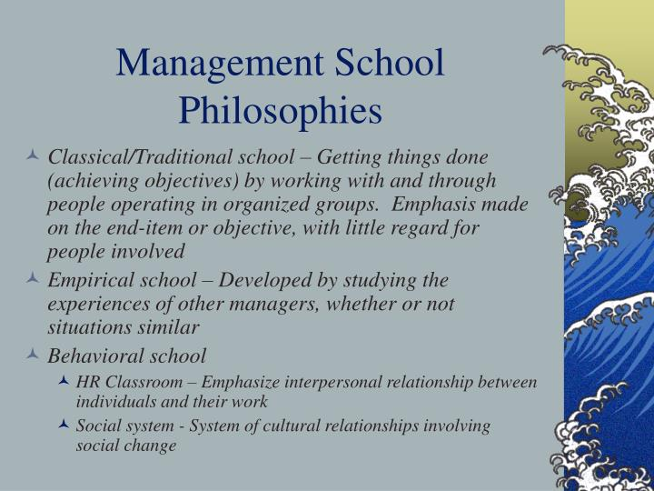 Management School Philosophies