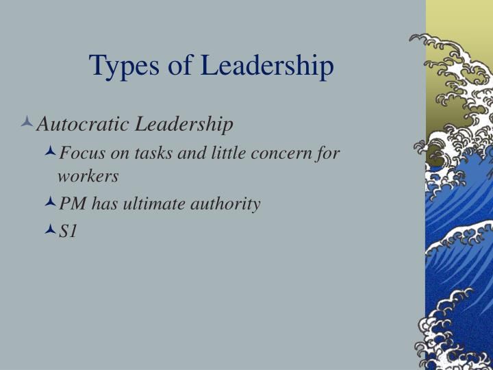 Types of Leadership