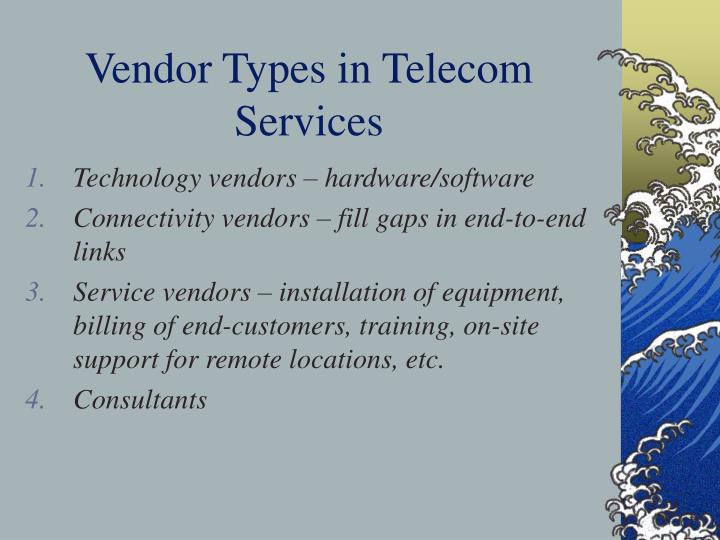 Vendor Types in Telecom Services