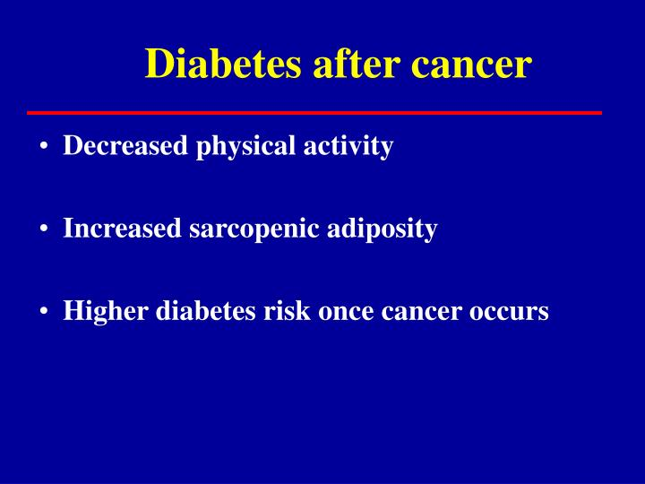 Diabetes after cancer
