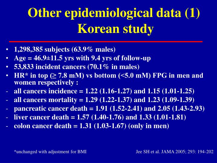 Other epidemiological data (1)