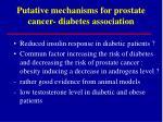 putative mechanisms for prostate cancer diabetes association