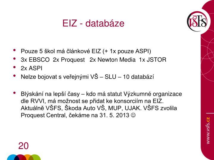 EIZ - databáze