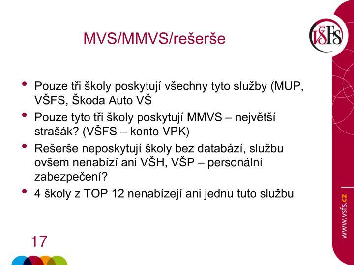 MVS/MMVS/rešerše