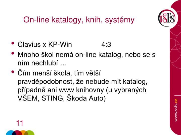 On-line katalogy, knih. systémy