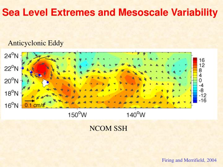Sea Level Extremes and Mesoscale Variability