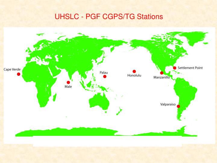 UHSLC - PGF CGPS/TG Stations