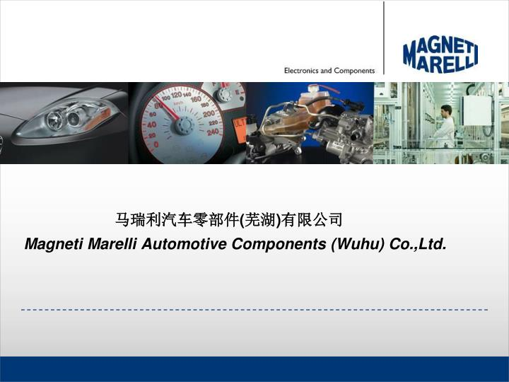 Magneti marelli automotive components wuhu co ltd