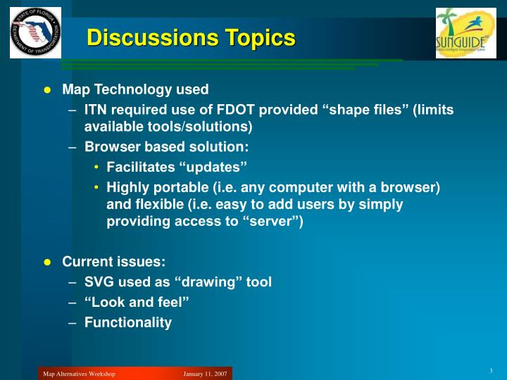 Discussions Topics