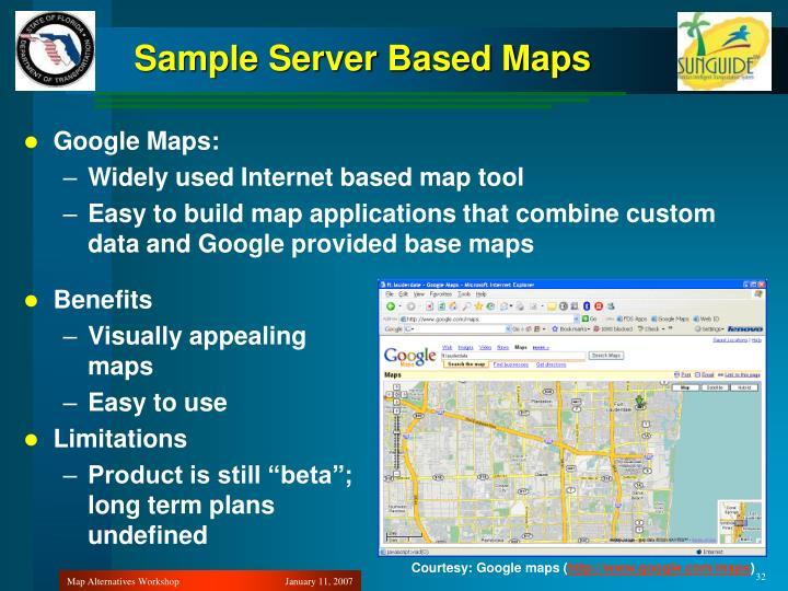 Sample Server Based Maps