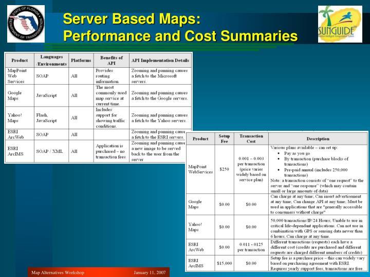 Server Based Maps: