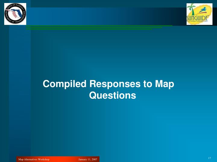 Compiled Responses to Map Questions