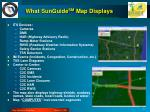 what sunguide sm map displays