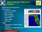 what sunguide sm web server displays