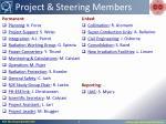 project steering members