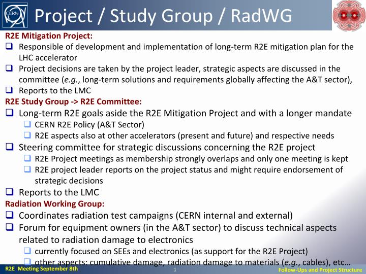 Project study group radwg