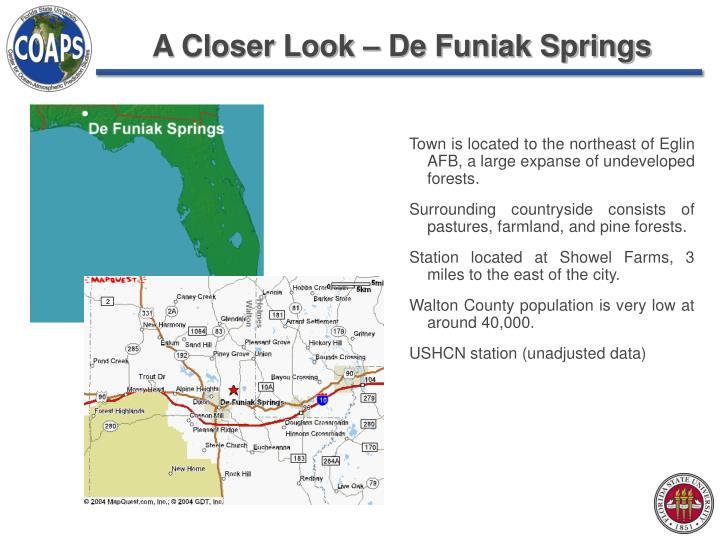 A Closer Look – De Funiak Springs