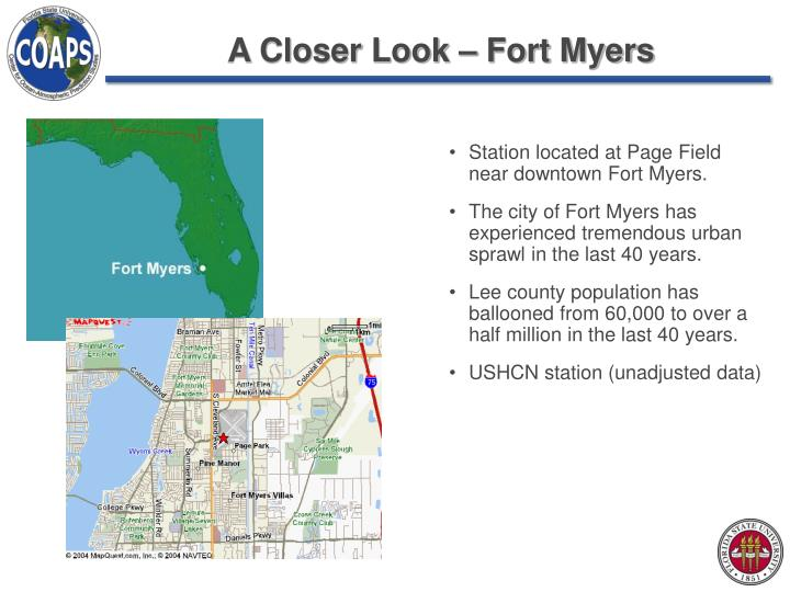 A Closer Look – Fort Myers
