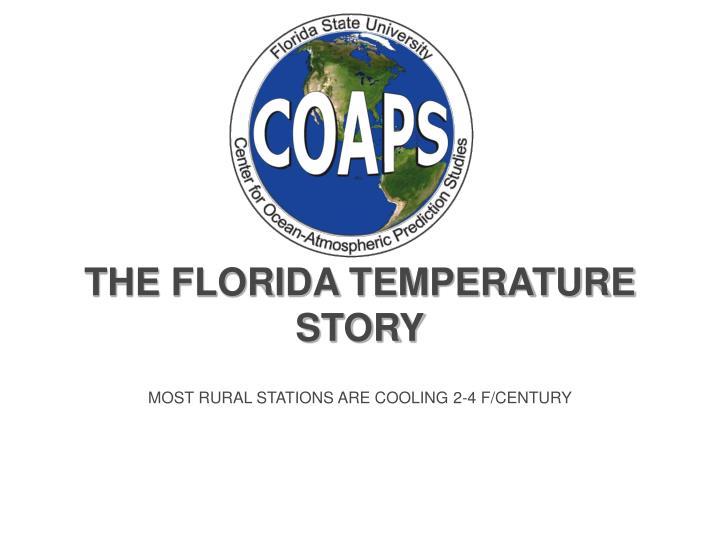 THE FLORIDA TEMPERATURE STORY