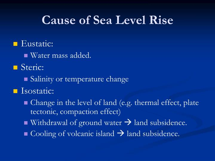 Cause of Sea Level Rise