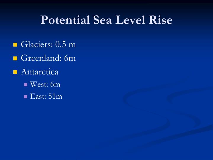 Potential Sea Level Rise