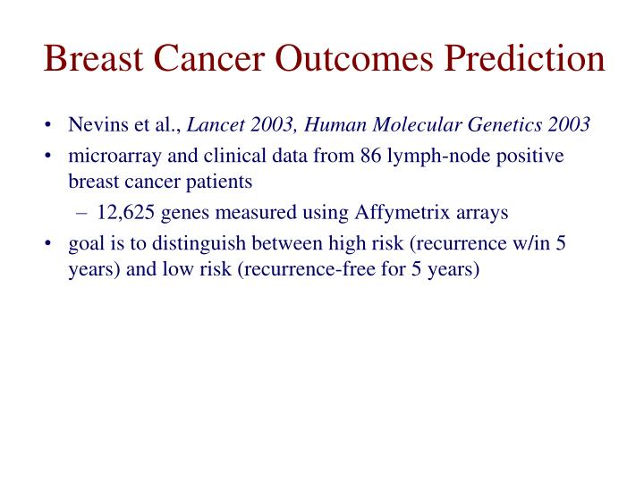 Breast Cancer Outcomes Prediction
