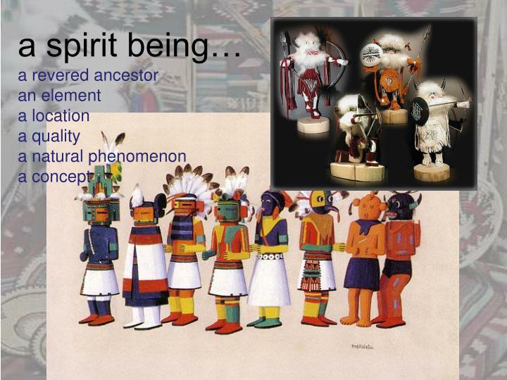 a spirit being…
