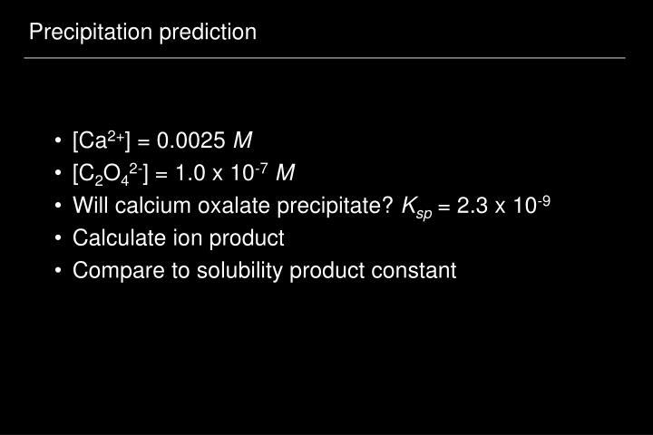 Precipitation prediction