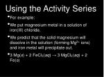 using the activity series13