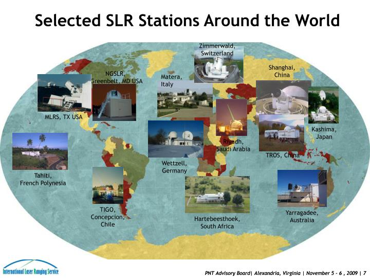 Selected SLR Stations Around the World