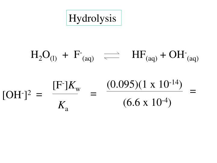 Hydrolysis