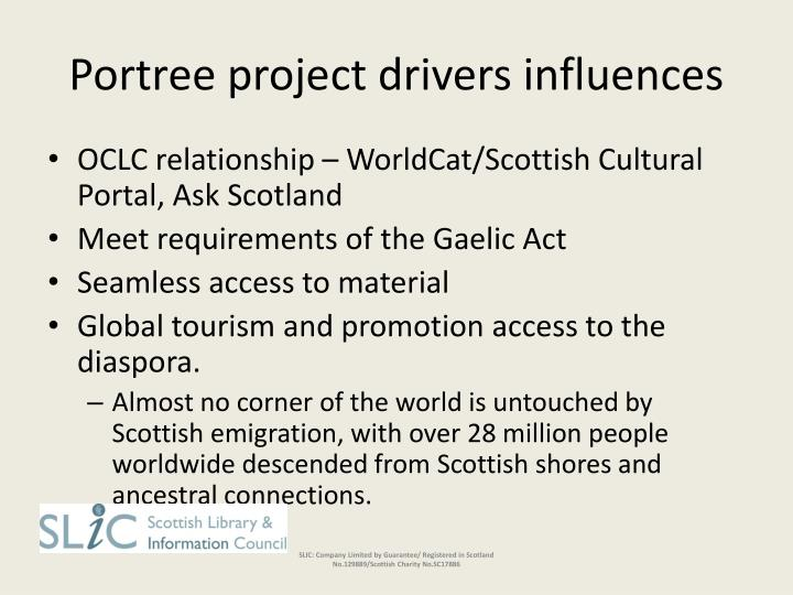 Portree project drivers influences