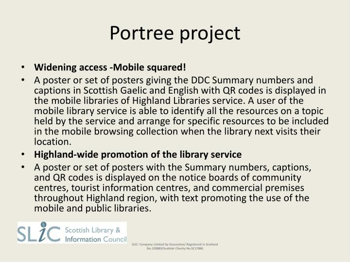 Portree project