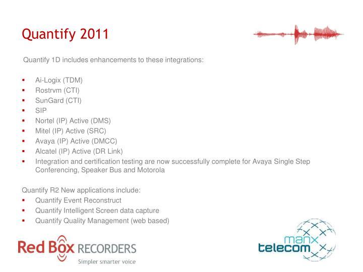 Quantify 2011