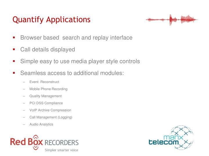 Quantify Applications