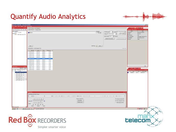Quantify Audio Analytics