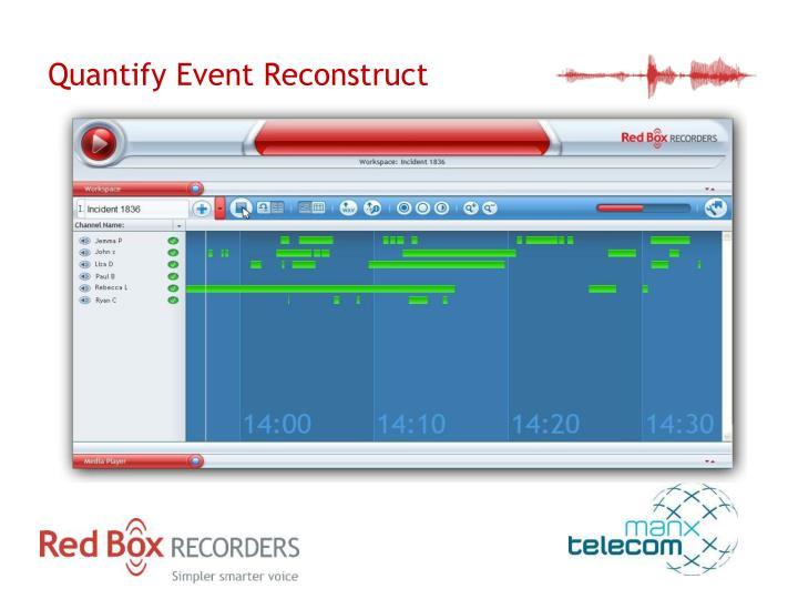 Quantify Event Reconstruct