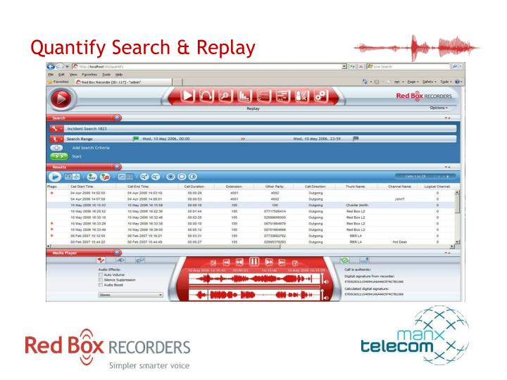 Quantify Search & Replay