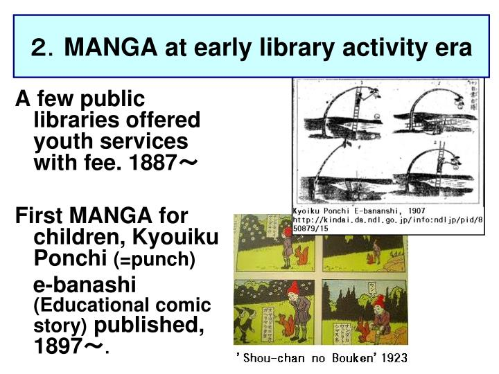 Manga at early library activity era