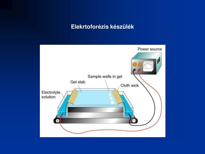 Elekrtoforézis készülék