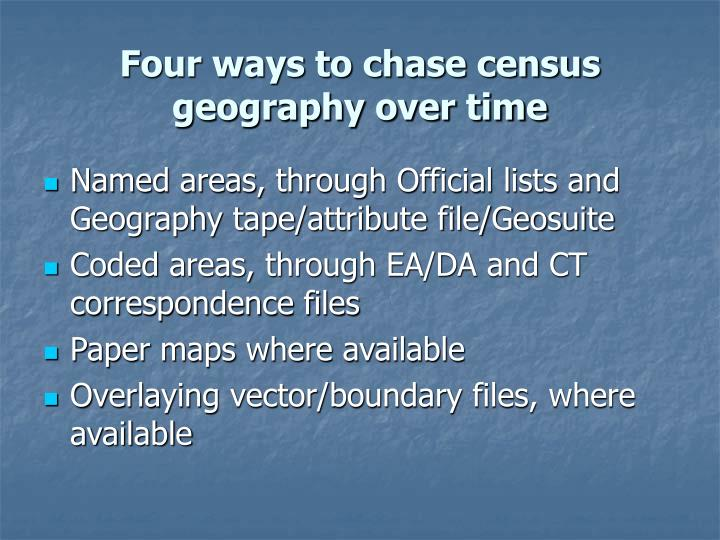 Four ways to chase census geography over time