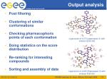 output analysis
