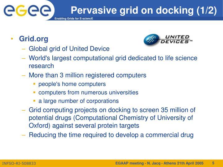 Pervasive grid on docking (1/2)