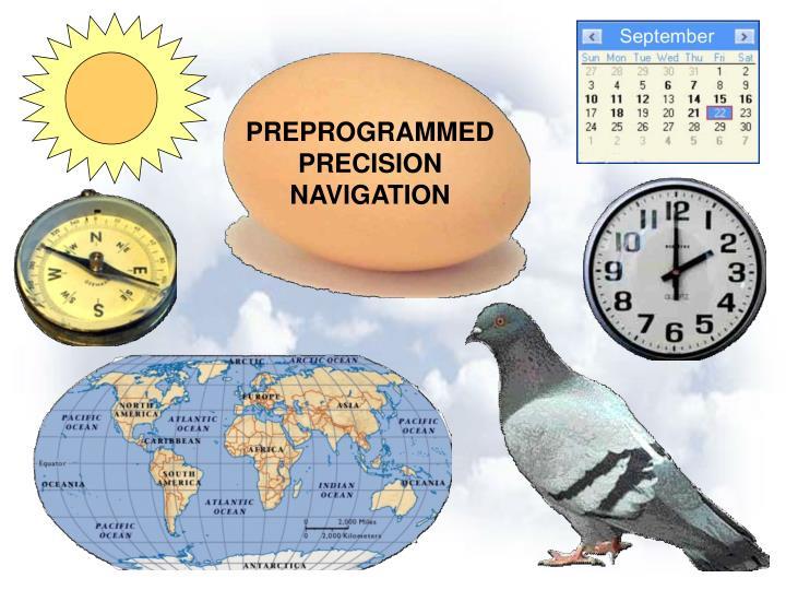 PREPROGRAMMED PRECISION NAVIGATION