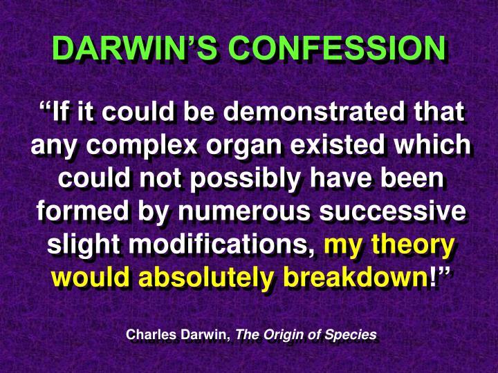 DARWIN'S CONFESSION