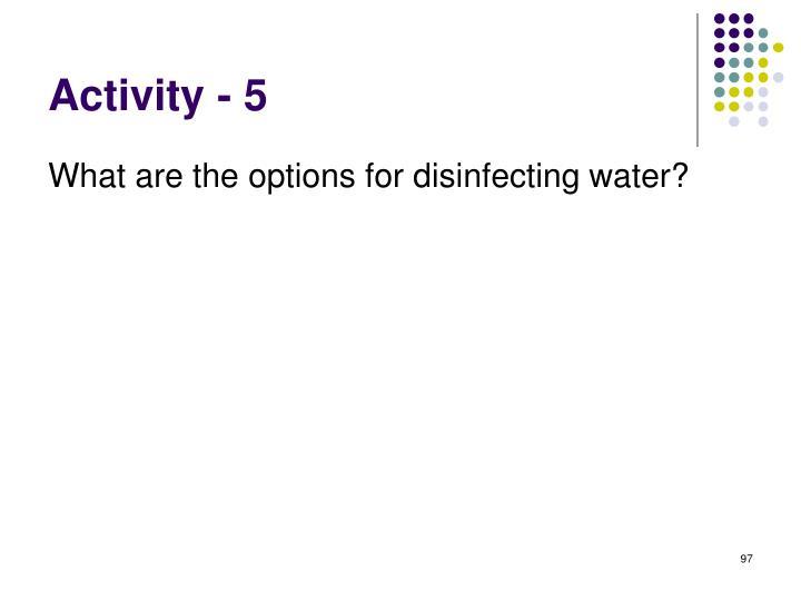 Activity - 5