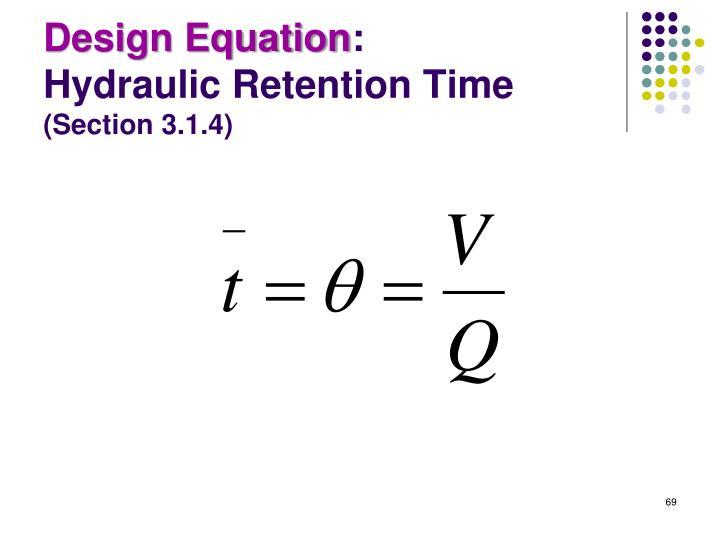 Design Equation