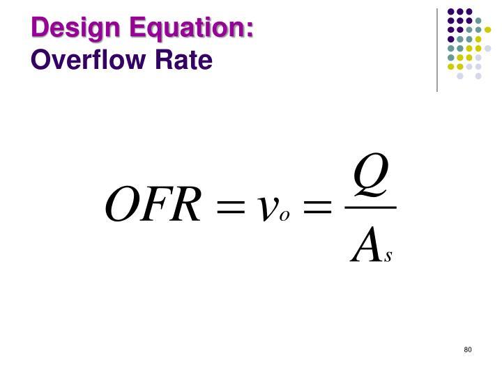 Design Equation: