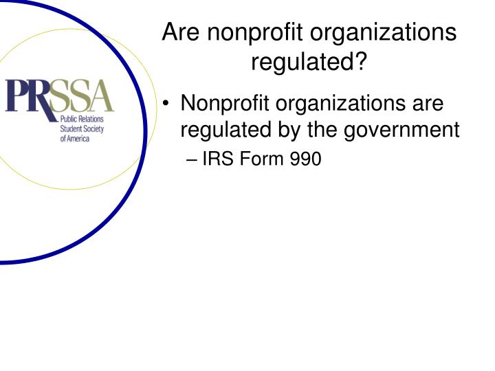 Are nonprofit organizations regulated?